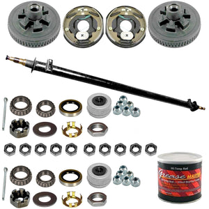 "7000 lb Build Your Own Electric Brake Trailer Axle Kit - 7k Capacity (12"" x 2"")"