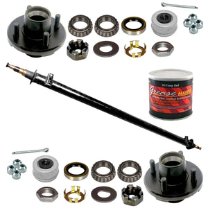 2000 lb Build Your Own Idler Trailer Axle Kit - 2k Capacity