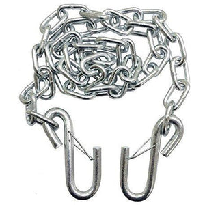 "Silver Trailer Safety Chains - 1/4x61"" (5k Capacity)"