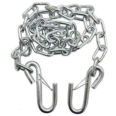 Silver Trailer Safety Chains 14x61 5k Capacity