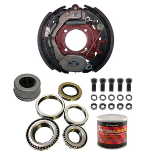 "8000 lb Trailer Axle Dexter Nev-R-Adjust Electric Brake Replacement Kit - 8K Capacity Driver Side - (12.25"" x 3.375"" Left Hand)"