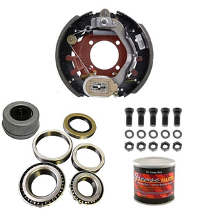 "8000 lb Trailer Axle Dexter Nev-R-Adjust Electric Brake Replacement Kit - 8K Capacity Passenger Side - (12.25"" x 3.375"" Right Hand)"