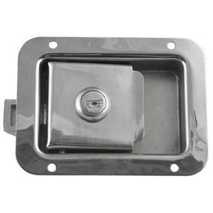 Locking Stainless Steel Flush Latch(Junior) - 2 3/4 x 3 3/4