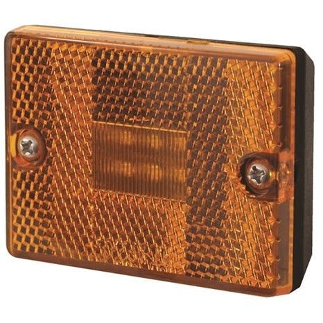 Stud Mount LED Marker/Clearance Light with Reflex - Amber - 6 Diodes - MCL36AB