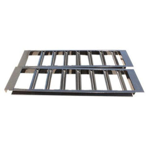 "Pair of 4"" Channel Heavy Duty Steel Loading Ramps (10,000 lb Capacity) - Unpainted"