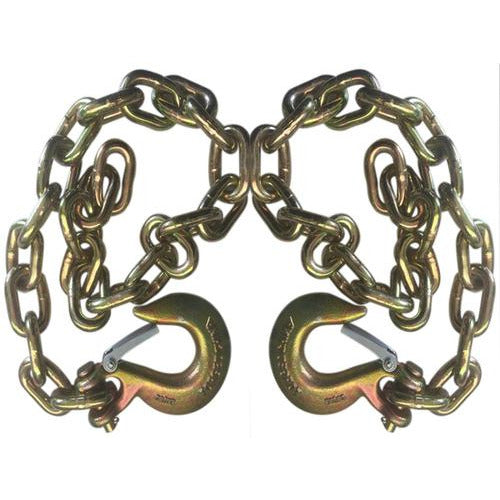 Set of 2) Gold Trailer Safety Chain - 1/4 x 30