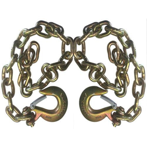 Set of 2) Gold Trailer Safety Chains - 3/8 x 39