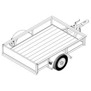 DIY Trailer Plan - 1106 - Single Axle Trailer