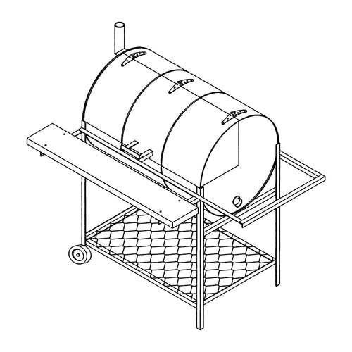 DIY Trailer Plan - 1306 - Pit and Grill Plan