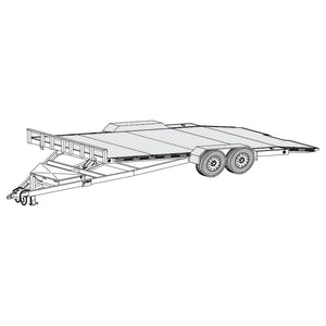 DIY Trailer Plan - 18HT - Hydraulic Car Carrier Trailer
