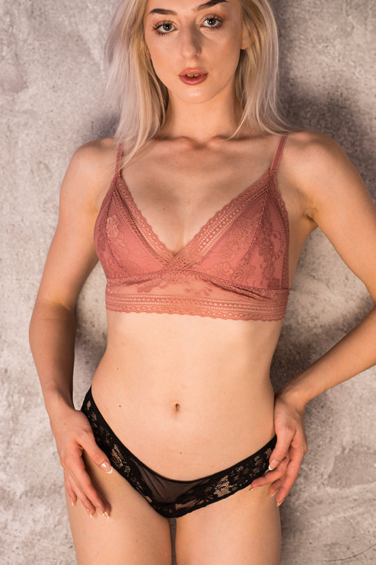 Peach colour bralette
