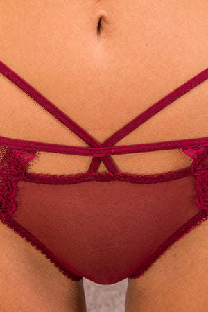 Hot Red Bra & Panties Set