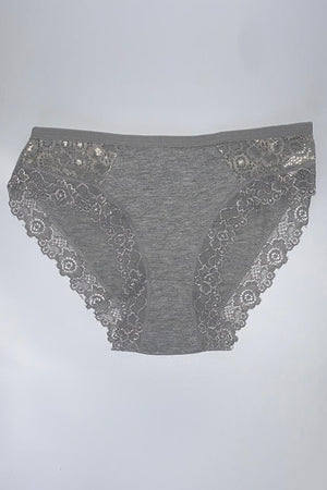 Lace Trim Low Brief