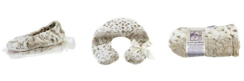 Sonoma lavender spa neck pillow in arctic circle faux fur