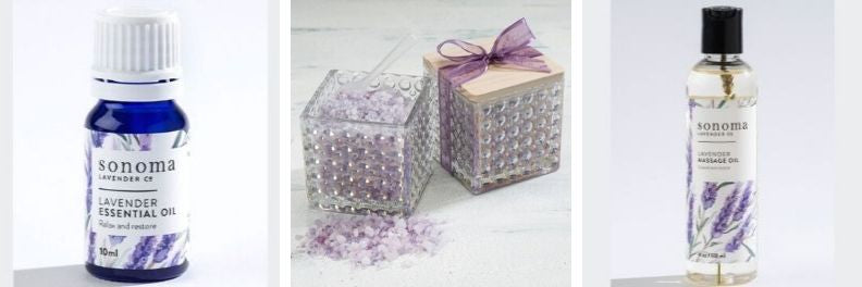 sonoma lavender essential oil bath salts and massage oil