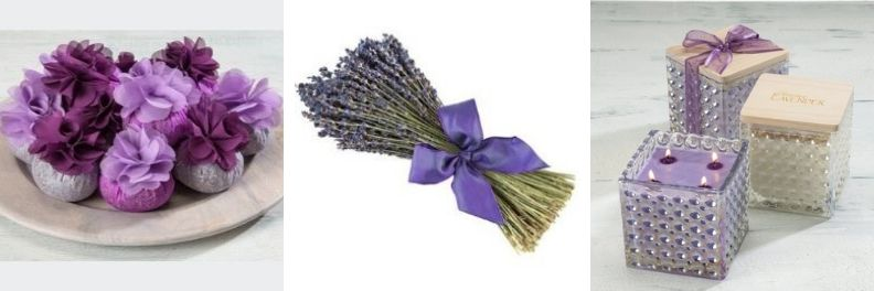 sonoma lavender flower top sachets lavender bouquet and candles