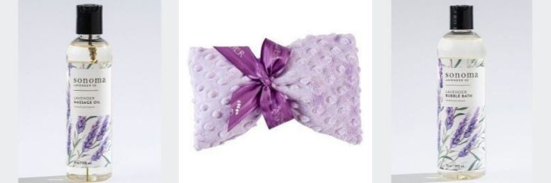 sonoma lavender massage oil spa mask and bubble bath