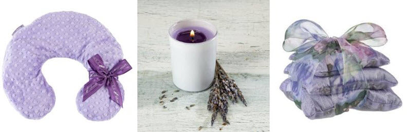 sonoma lavender neck pillow candle sachet