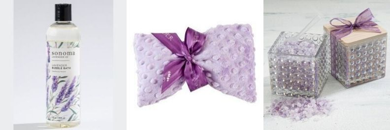 sonoma lavender eye mask, bubble bath and bath salts