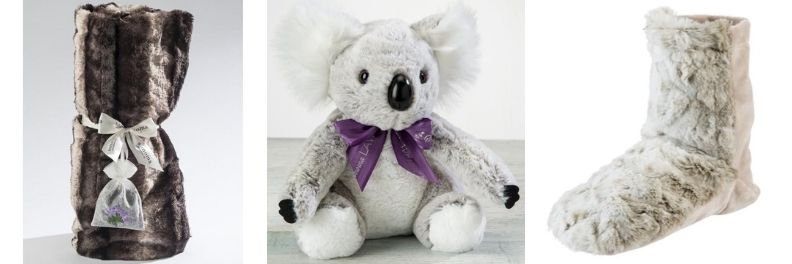 spa birthday gifts for her comfort fur throw lavender koala bear lavender spa booties