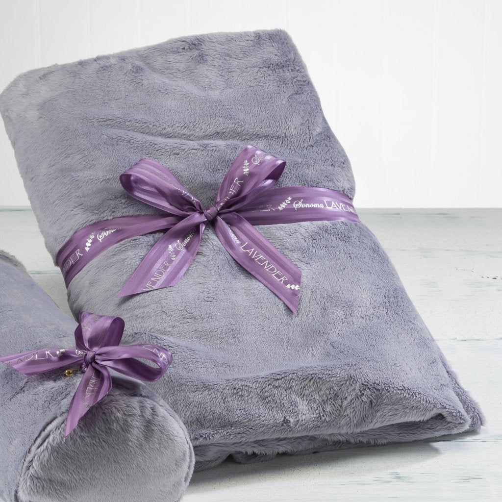 Lavender Spa Blankie in Plush Plata Silver