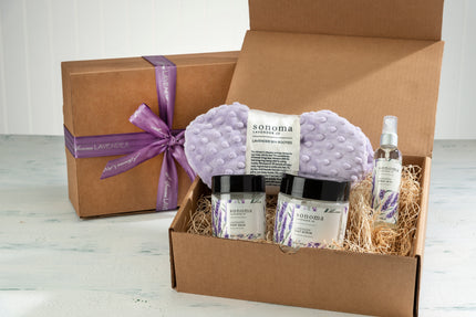 Lavender Restful Sole Foot Treatment Kit with Lilac Dot Booties