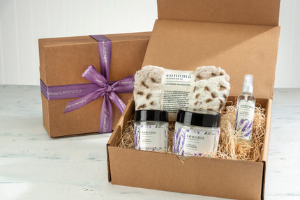 Lavender Restful Sole Foot Treatment Kit with Arctic Circle Booties
