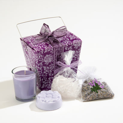 Take-Out Gift Box of 4 Lavender Treats