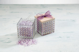 Lavender Infused Bath Salts in Decorative Glass Jar