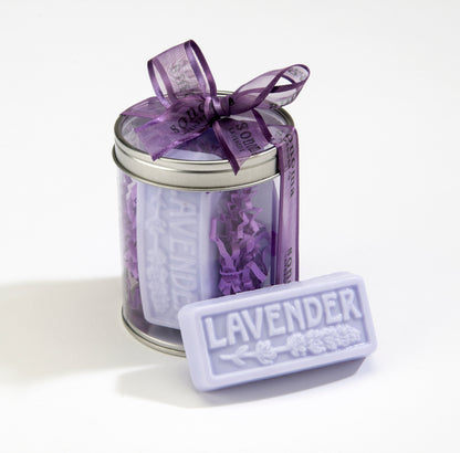 Handmade Embossed Lavender Soap Set of 3