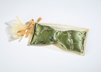 Eucalyptus Eye Pillow in Dragonfly Brocade Fabric