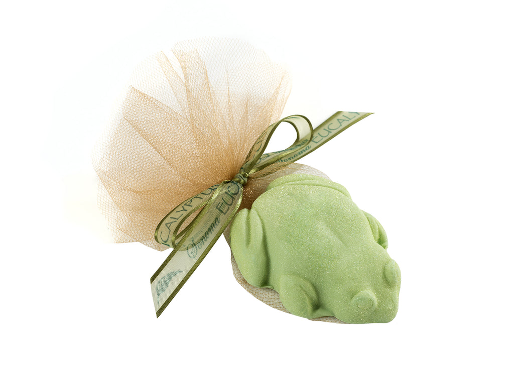 Fun Eucalyptus Frog-Shaped Guest Soap