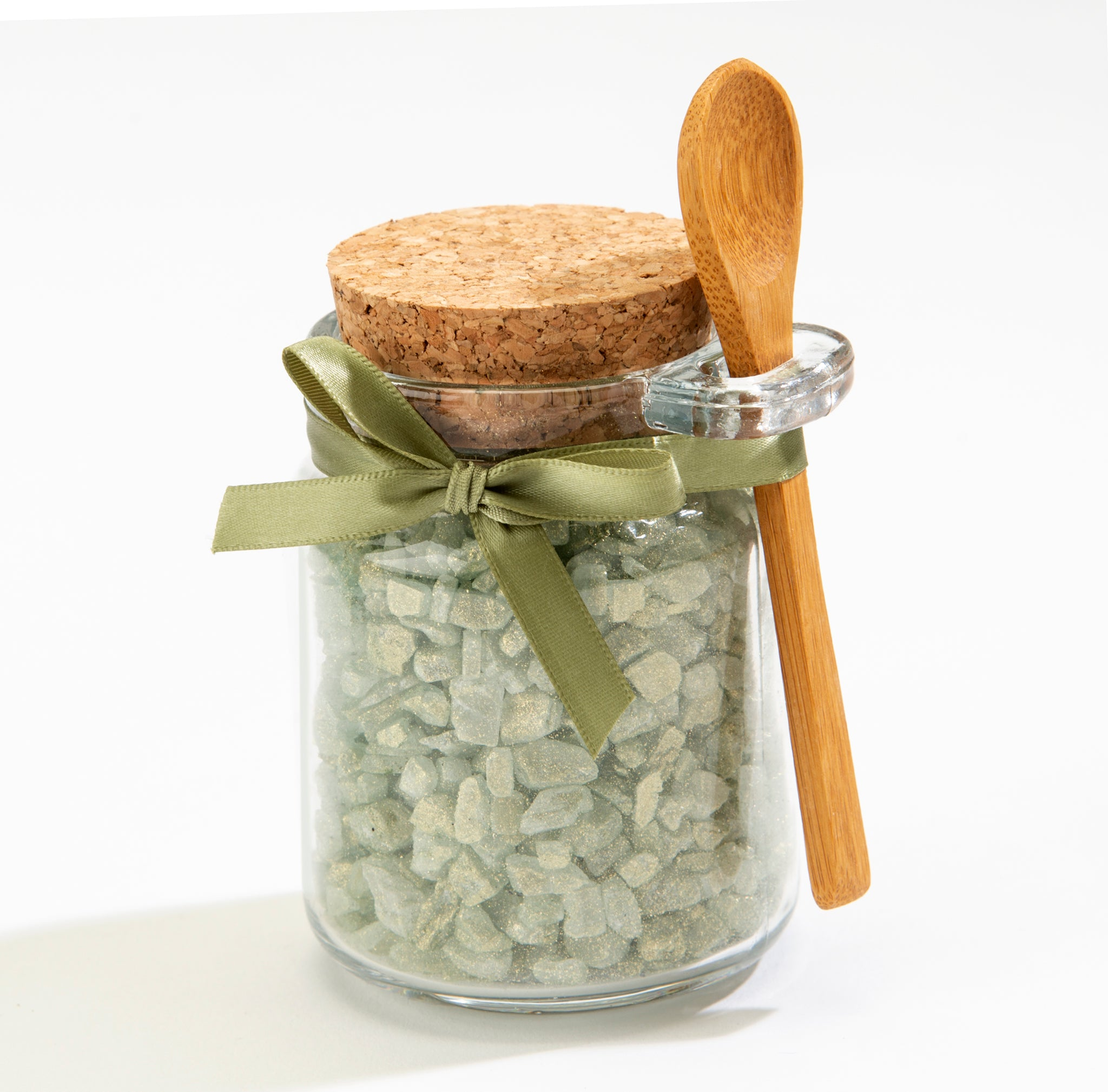 Eucalyptus Bath Salts in Honey Jar
