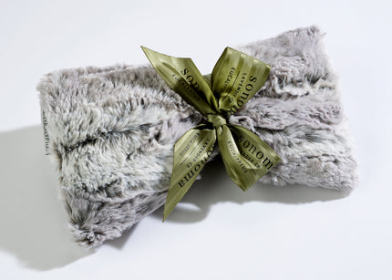 Eucalyptus Spa Mask in Silver Fox Faux Fur
