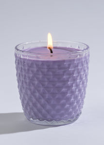 Lavender Soy Candle in  Diamond Glass