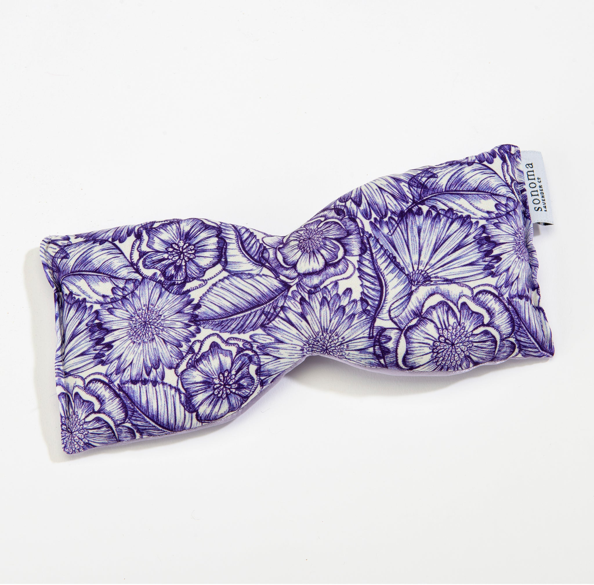 Lavender Eye Pillow in Purple Bouquet Satin