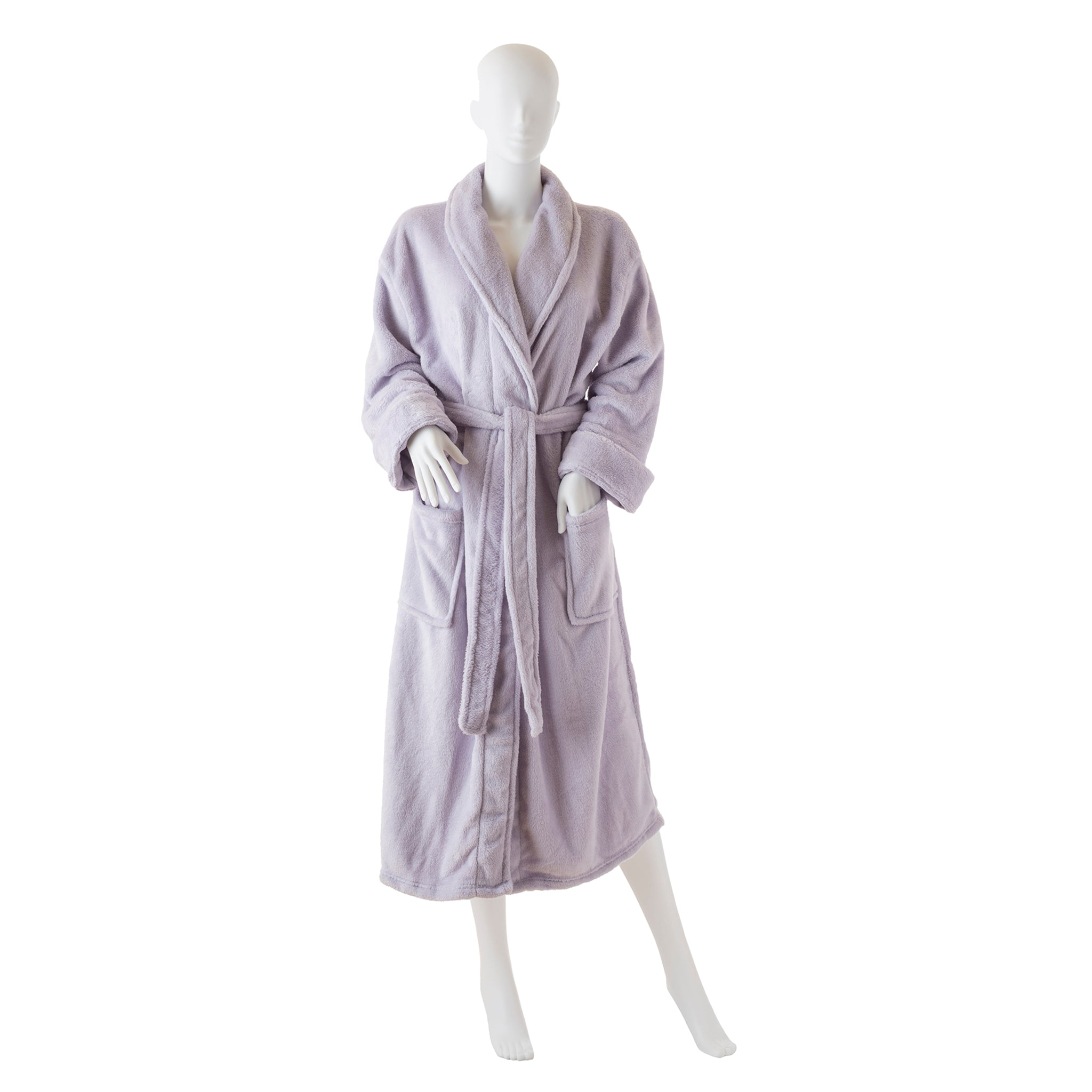 Ultra-Luxe Soft & Cozy Plush Shawl Robe in Lilac