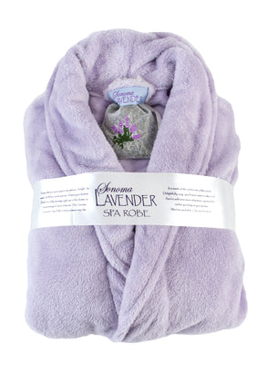 Ultra-Luxe Plush Lilac Shawl Robe