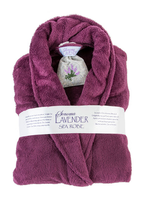 Ultra-luxe Plush Plum Shawl Robe