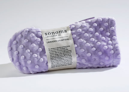 Lavender Spa Mittens in Classic Lilac Dot Fabric