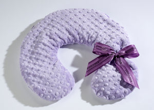 Lavender Spa Neck Pillow in Classic Lilac Dot Fabric