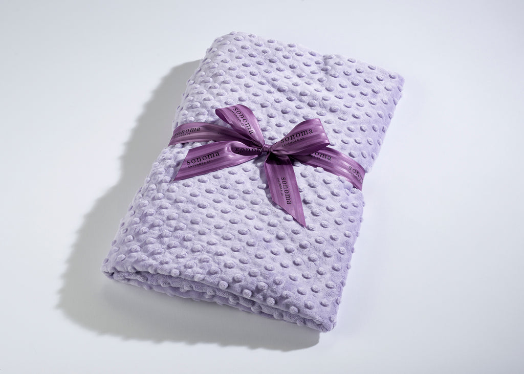 Lavender Spa Blankie in Lilac Dot Fabric