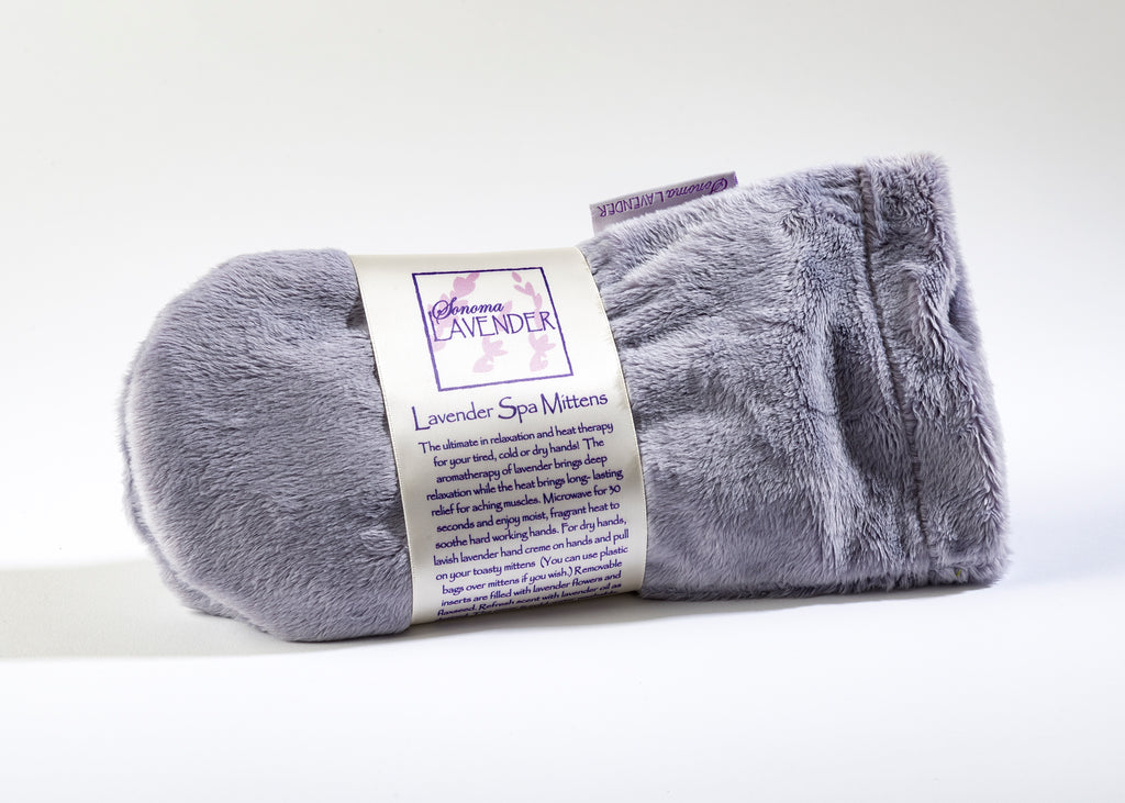 Lavender Spa Mittens in Plush Plata Silver