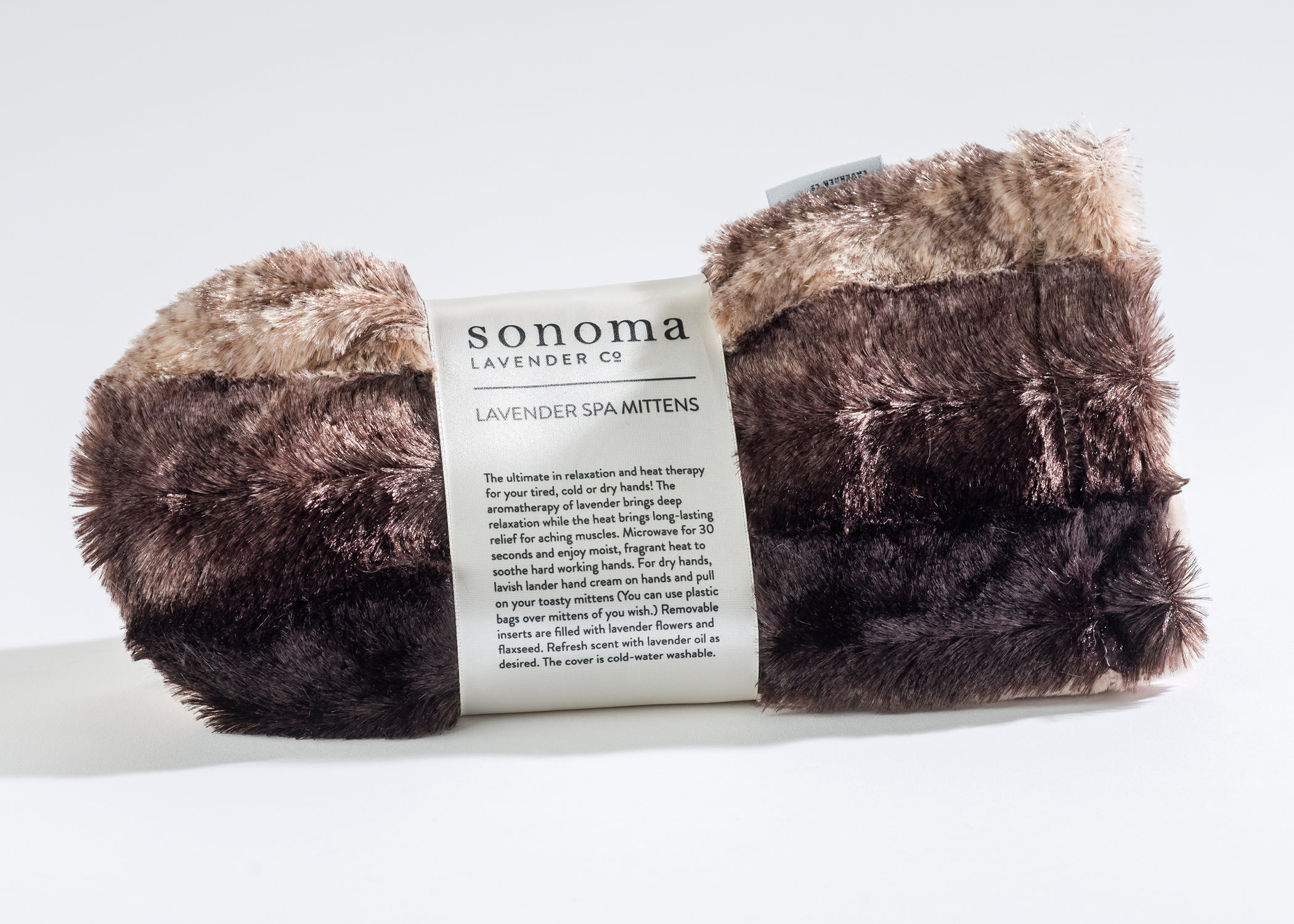 Lavender Spa Mittens in Luxurious Faux Chinchilla Fur