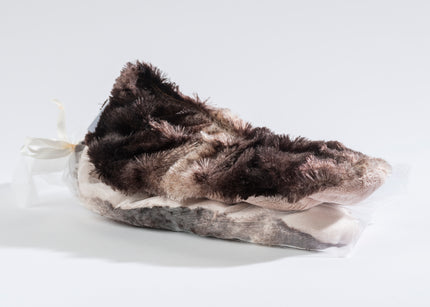 Lavender Footies in Luxurious Faux Chinchilla Fur