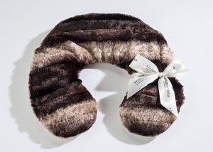 Lavender Neck Pillow in Luxurious Faux Chinchilla Fur
