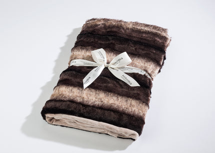Lavender Spa Blankie in Luxurious Faux Chinchilla Fur