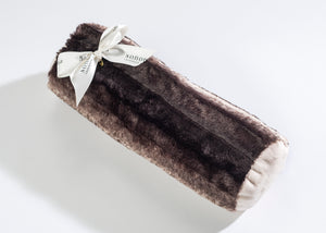 Lavender Bolster Roll in Luxurious Faux Chinchilla Fur