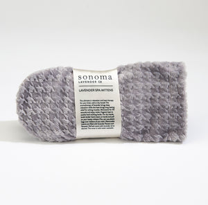 NEW! Lavender Spa Mittens in Silver Houndstooth