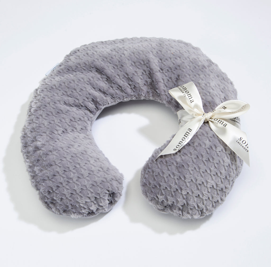 NEW!  Lavender Spa Neck Pillow in Silver Houndstooth